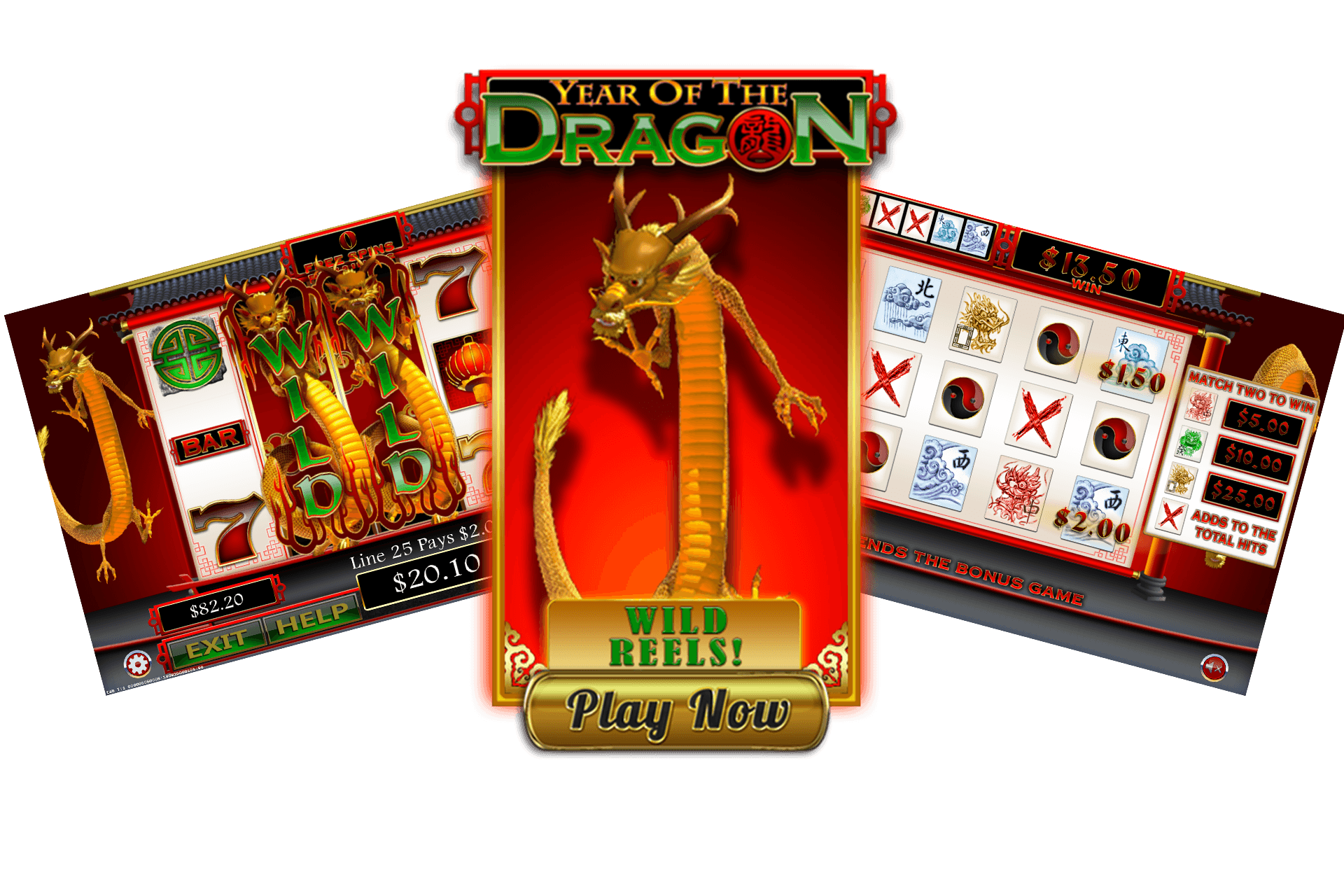 Year of the Dragon Pull Tab Game